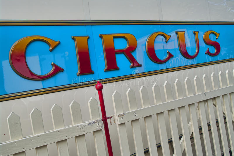 Circus sign stock photos