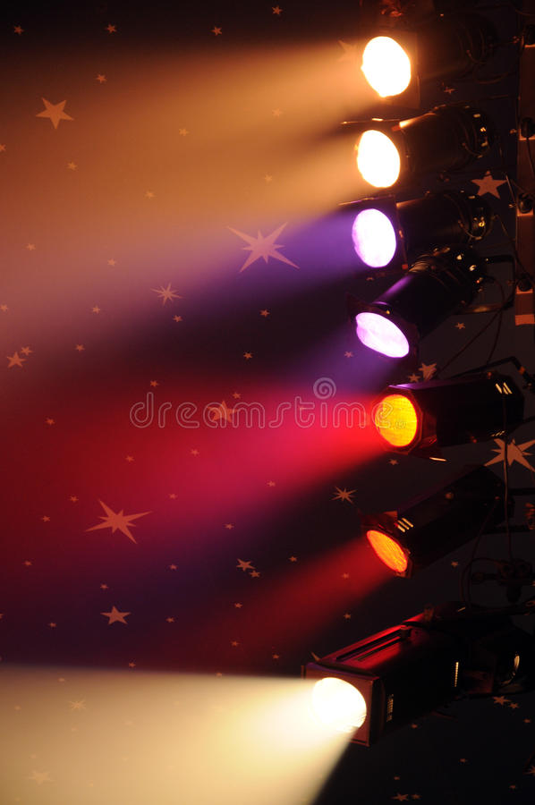 Circus spotlights royalty free stock images
