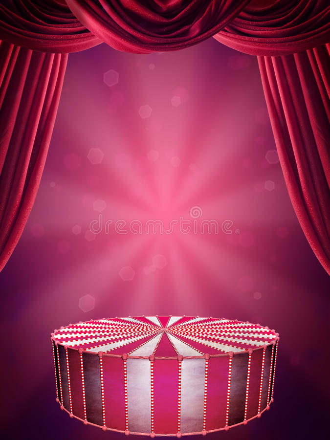 Circus stage vector illustration