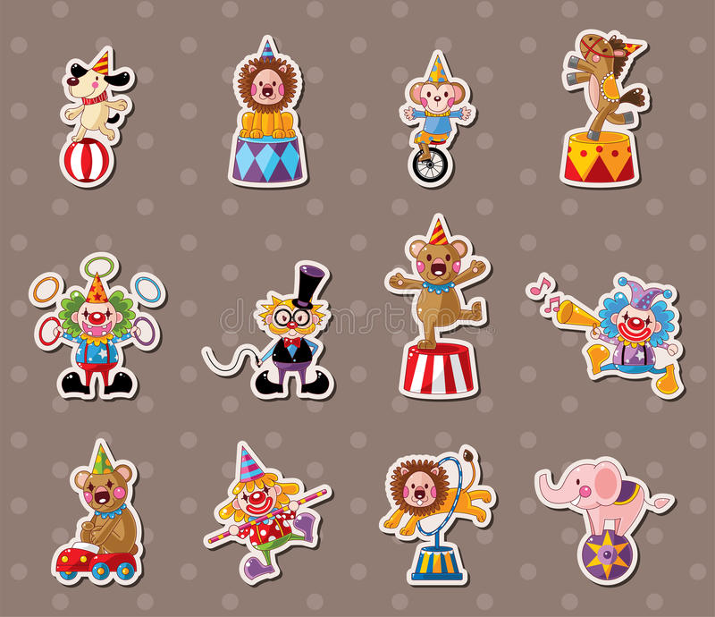 Download Circus stickers stock vector. Illustration of celebration - 26712814
