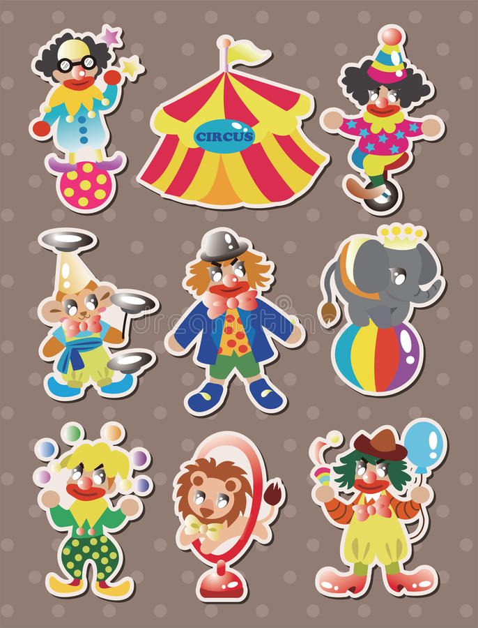 Download Circus Stickers Royalty Free Stock Images - Image: 26798499