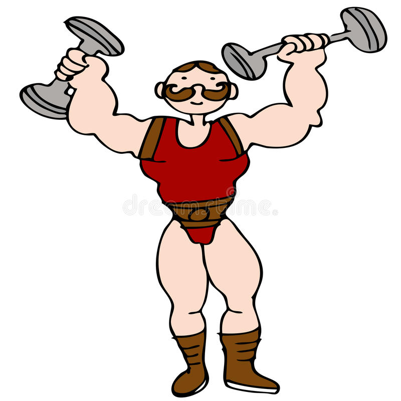Download Circus Strongman stock vector. Image of weightlifter - 17815790