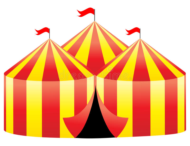 Circus tent stock illustration