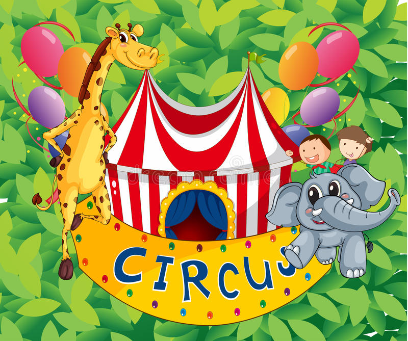 Download A Circus Tent With Animals And Kids Stock Vector - Illustration of image circus & A Circus Tent With Animals And Kids Stock Vector - Illustration of ...