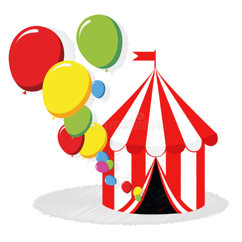 Download Circus Tent And Balloons Vector Stock Vector - Illustration: 32433818