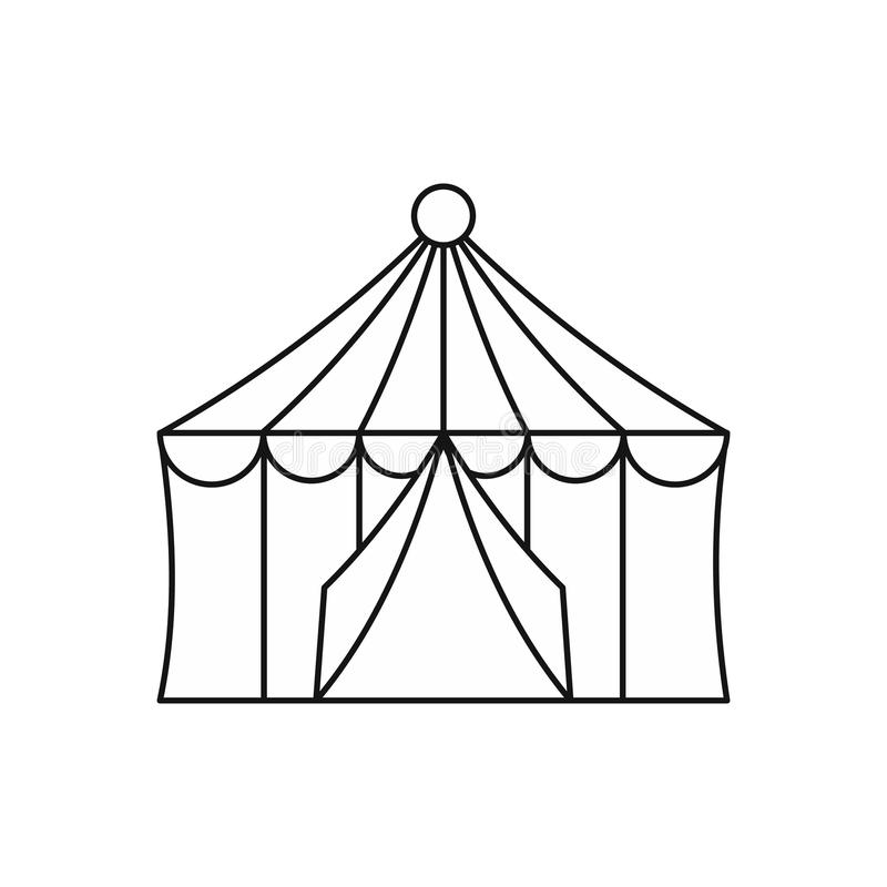 Download Circus Tent Icon Outline Style Stock Vector - Illustration of dome celebration  sc 1 st  Dreamstime.com & Circus Tent Icon Outline Style Stock Vector - Illustration of ...