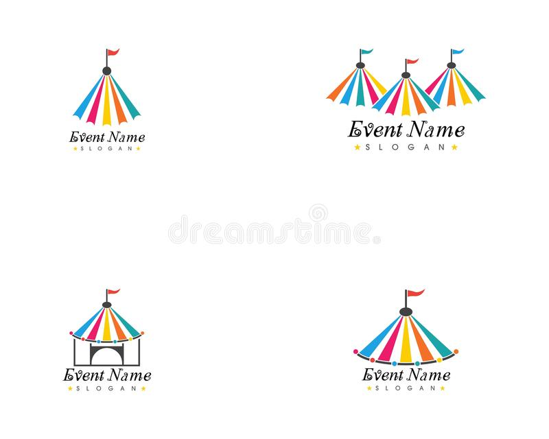 Circus tent logo template. vector illustration