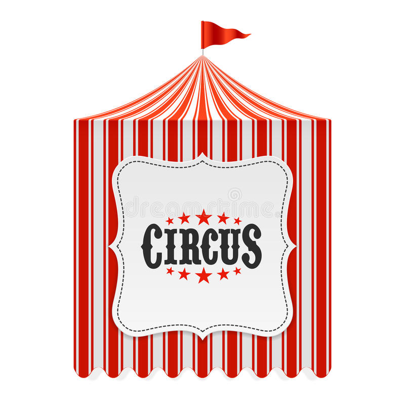 Circus tent, poster background royalty free illustration