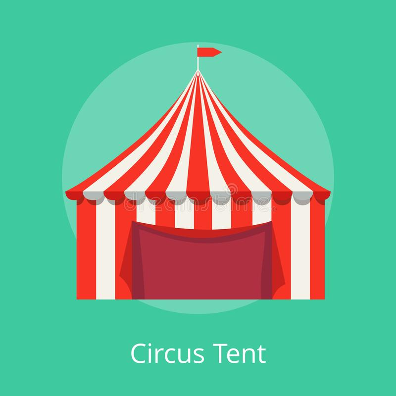 Circus Tent Poster Striped Awning for Performances royalty free illustration
