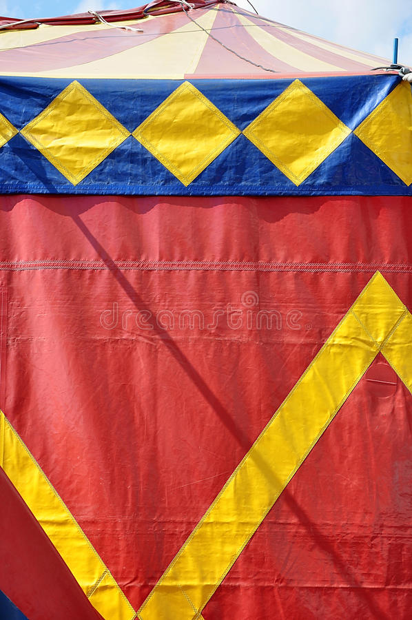 Circus tent. Red,blue and yellow colors royalty free stock images