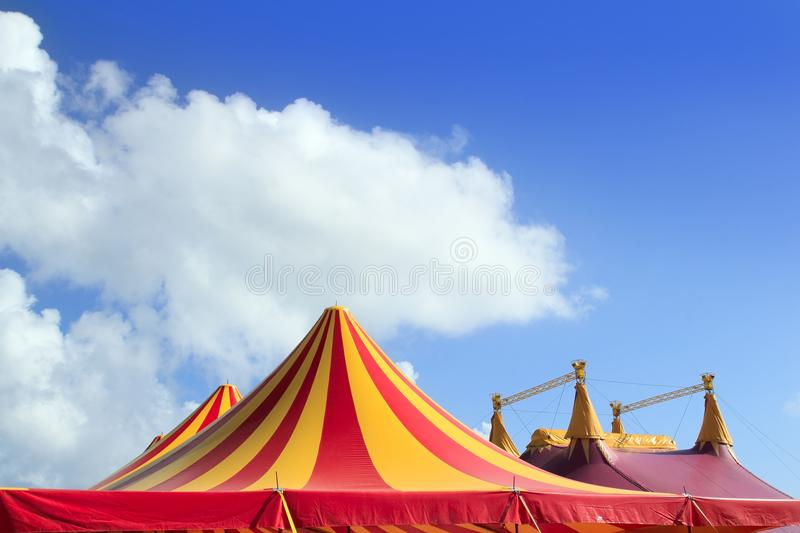 Download Circus Tent Red Orange And Yellow Stripped Pattern Stock Photo - Image of banner, outdoor: 19290728