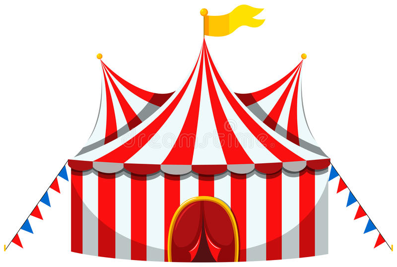 Download Circus Tent In Red And White Striped Stock Vector - Illustration of amusement rides  sc 1 st  Dreamstime.com & Circus Tent In Red And White Striped Stock Vector - Illustration ...