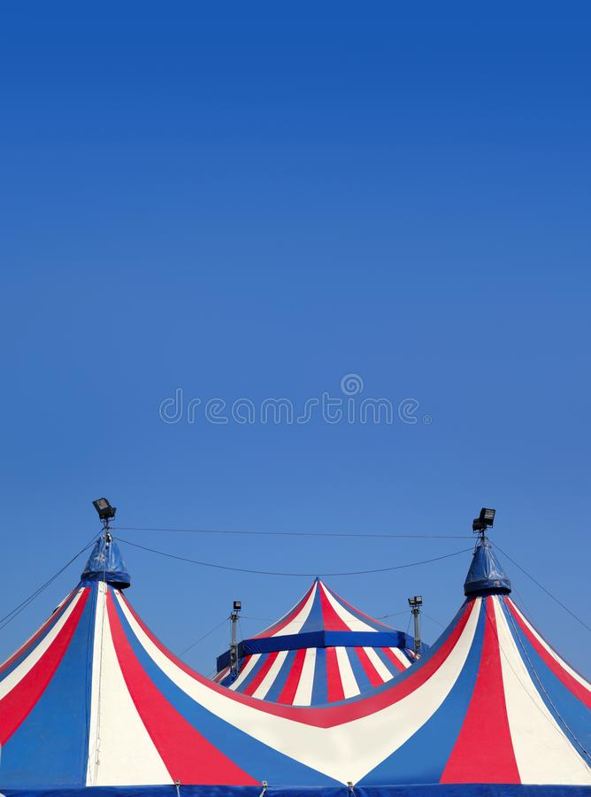 Download Circus Tent Under Blue Sky Colorful Stripes Stock Photo - Image: 16698108
