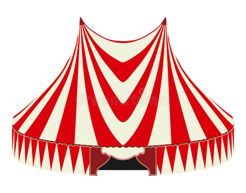 Circus tent. On a white background stock illustration