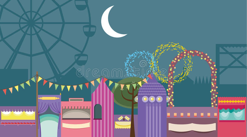 Circus tents vector. For your ideas stock illustration