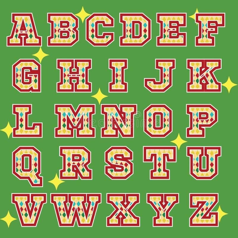 Circus theme alphabet icons stock photo