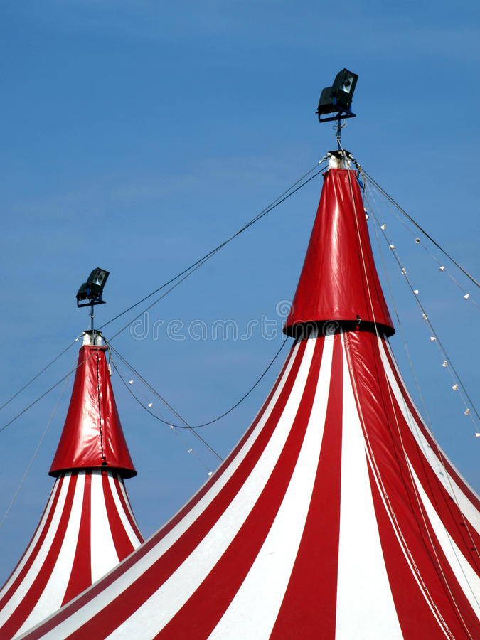 Download Circus in town! stock image. Image of striped, roof, white - 11207713