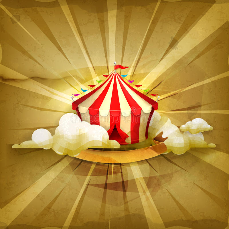 Circus, vector background stock illustration