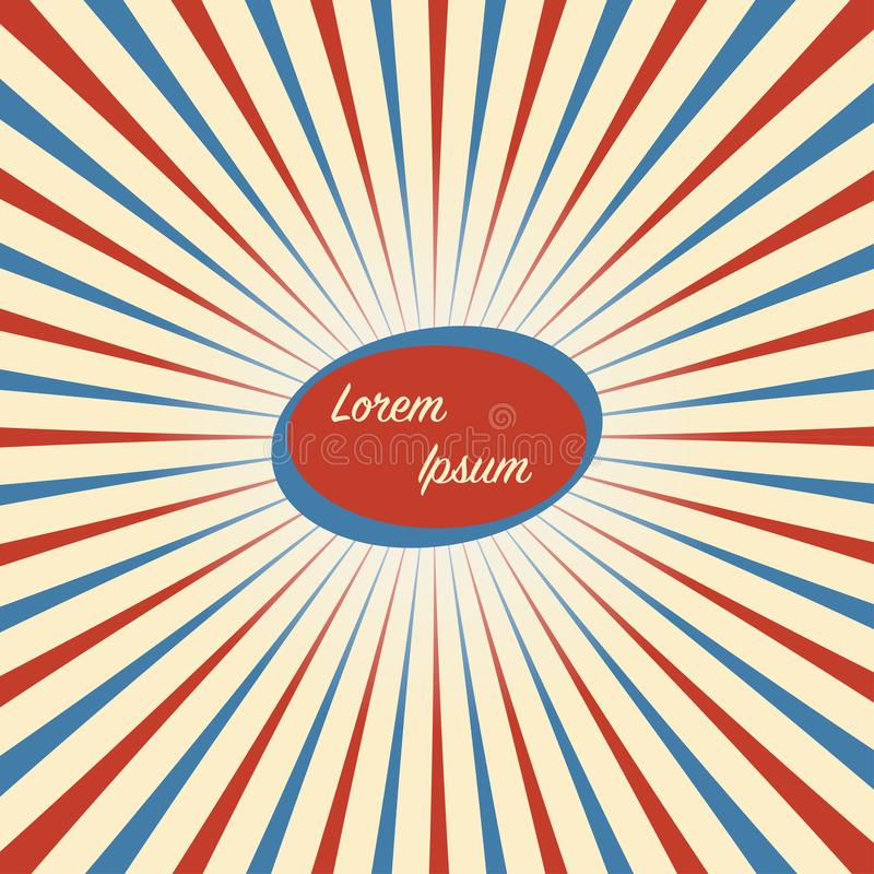 Circus Vintage background in red blue white vector illustration