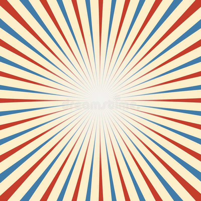 Circus Vintage background in red blue white royalty free illustration