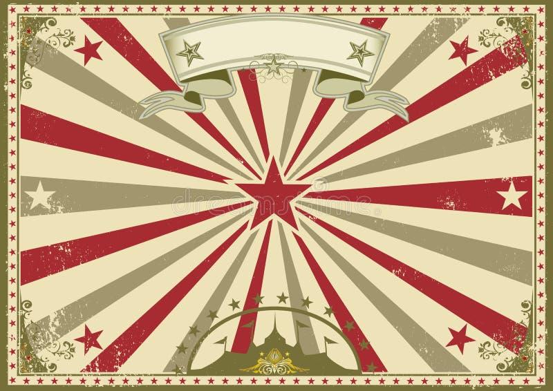 Circus vintage horizontal poster royalty free illustration