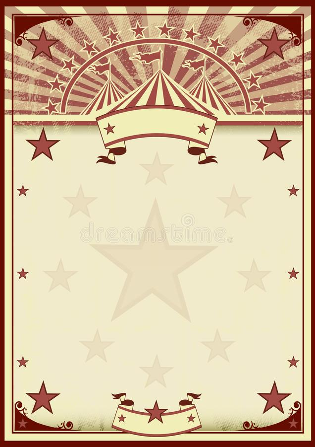 Circus stars vintage poster stock illustration