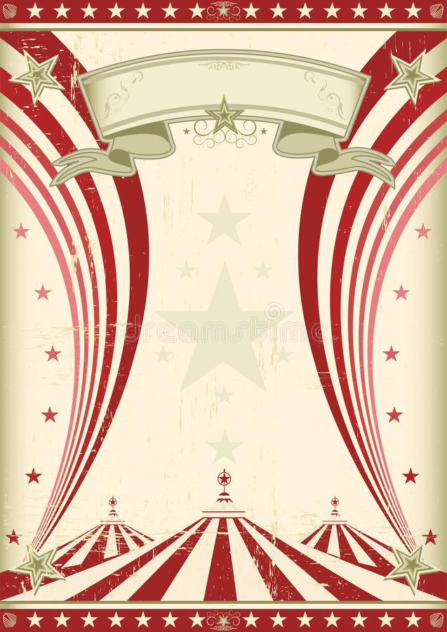 Rainbow red circus vintage royalty free stock images