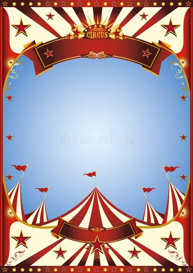 Blue Sky circus stock image