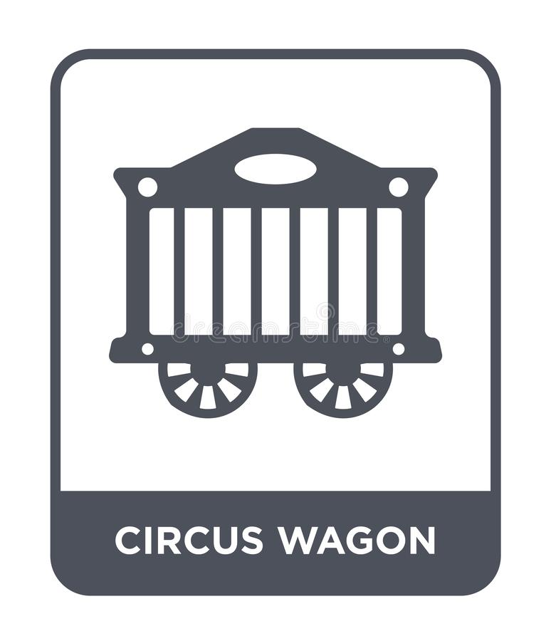 circus wagon icon in trendy design style. circus wagon icon isolated on white background. circus wagon vector icon simple and vector illustration