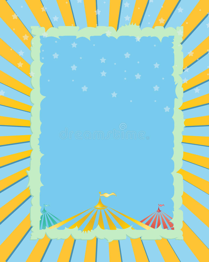 Circus Advertisement Background Stock Vector