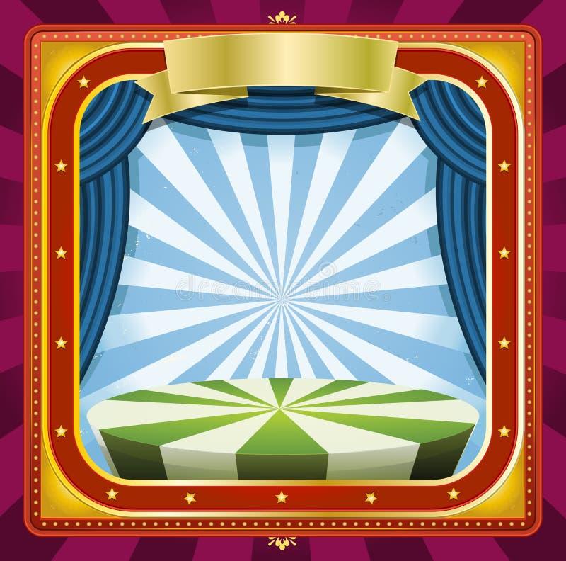 Circusachtergrond royalty-vrije illustratie
