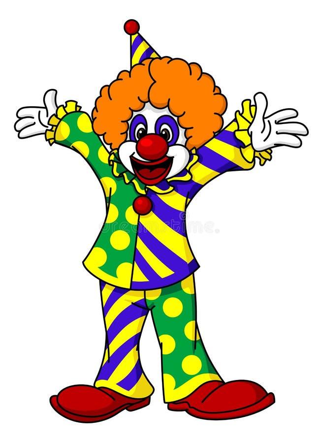 Circusclown stock illustratie