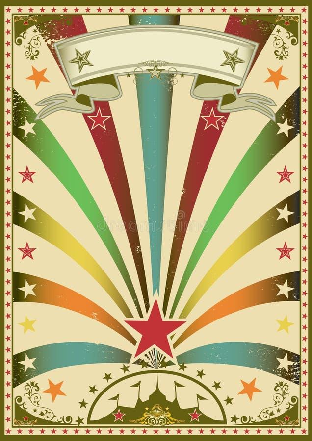 Circuskleur royalty-vrije illustratie