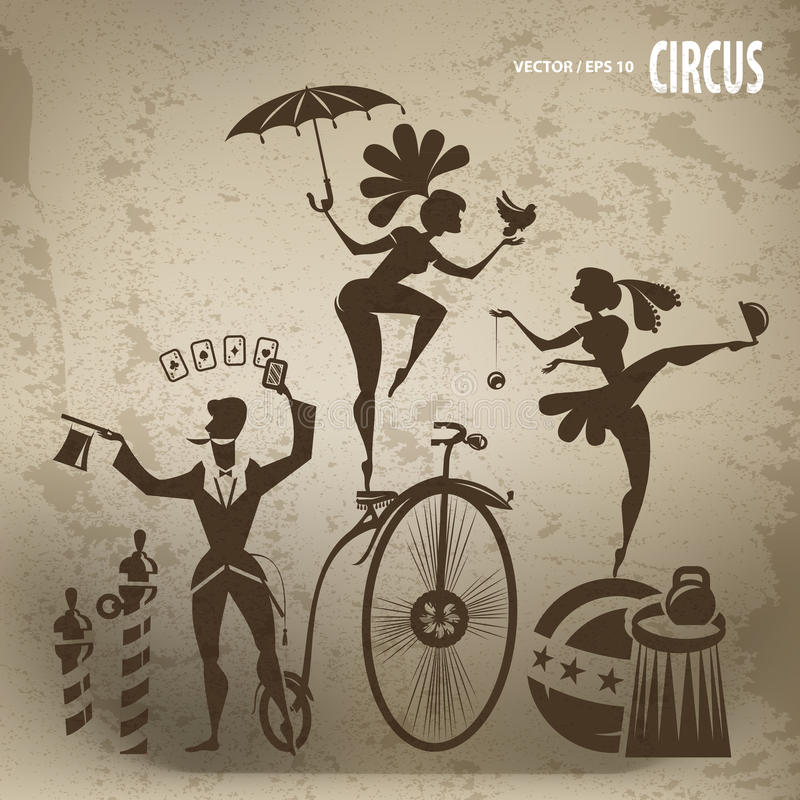 Circuskunstenaars vector illustratie