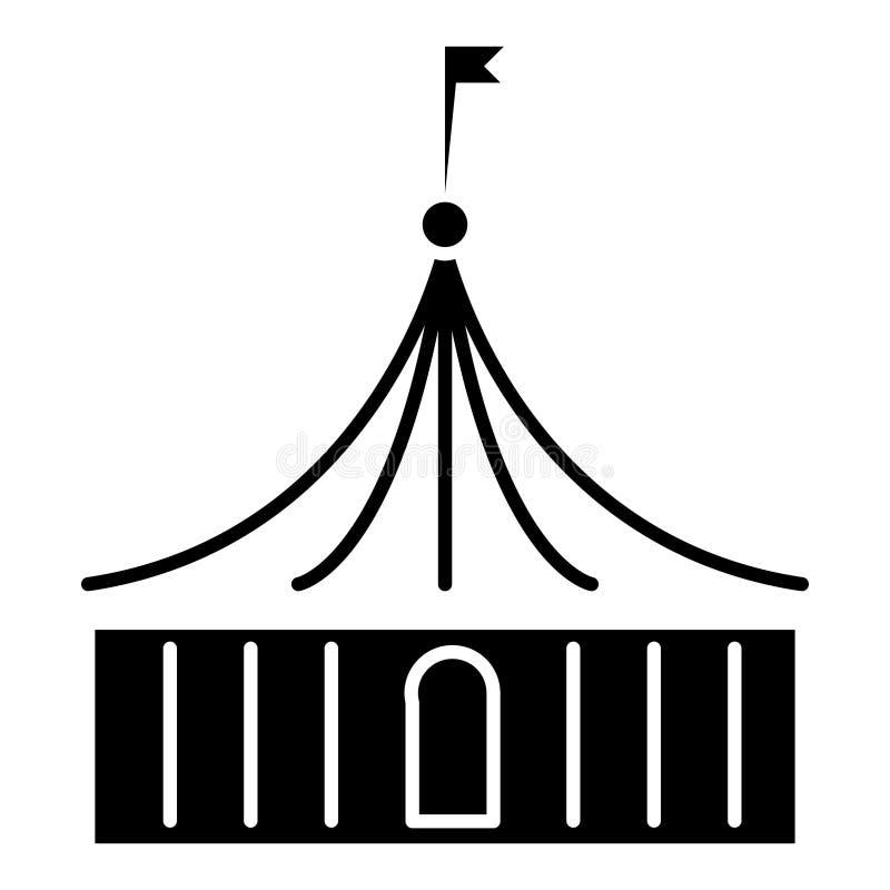 Circuspictogram, vectorillustratie, zwart teken op geïsoleerde achtergrond royalty-vrije illustratie