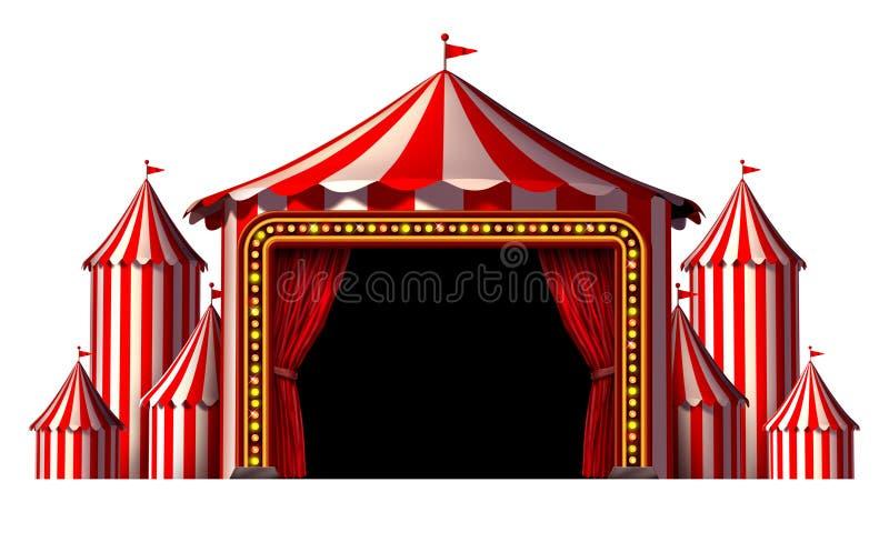 Circusstadium royalty-vrije illustratie