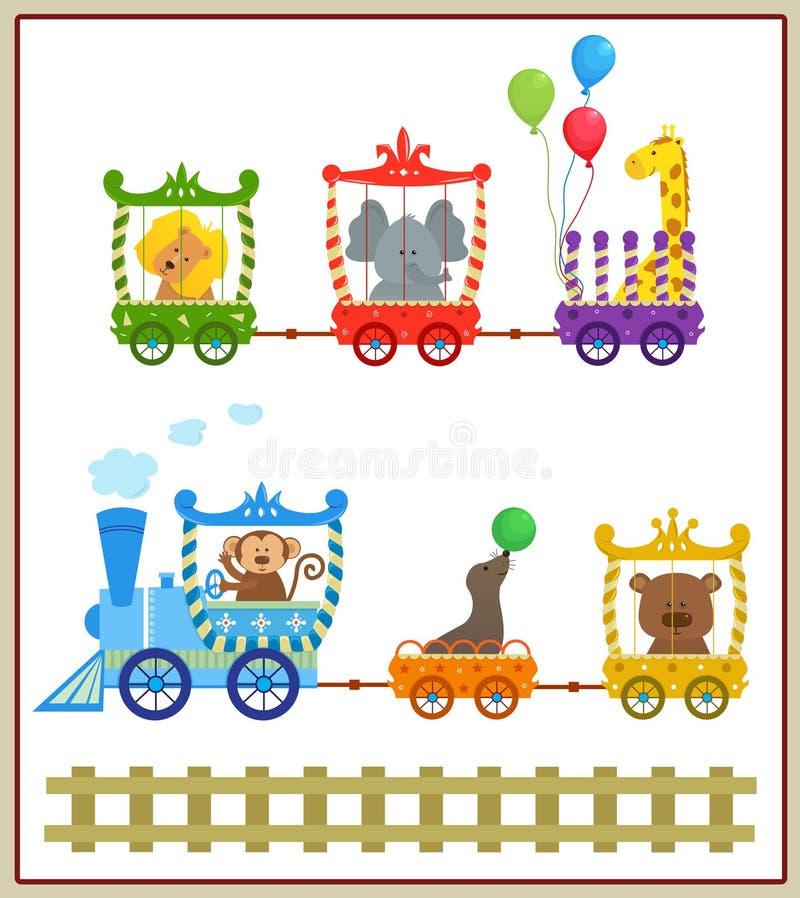 Circustrein stock illustratie