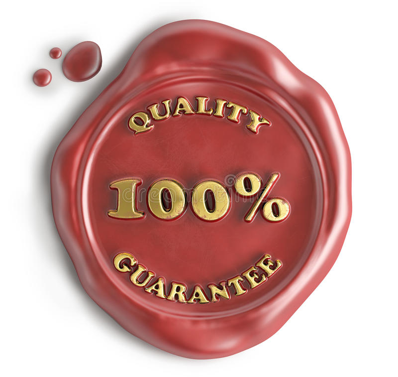 Cire de joint de garantie de qualité illustration stock