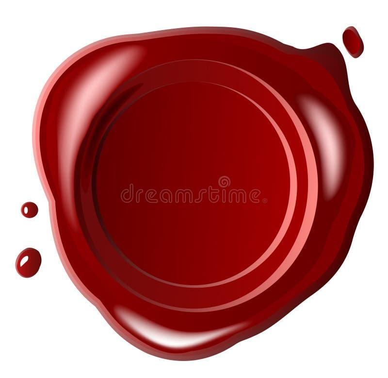 cire rouge de sceau illustration stock
