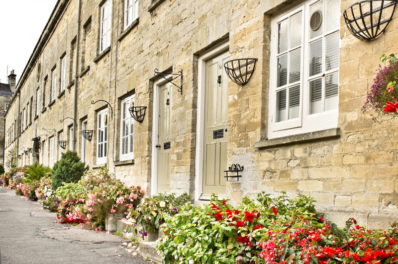 Cirencester cottages royalty free stock photography