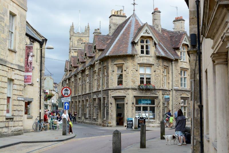 Cirencester-Stadtmitte stockfotos