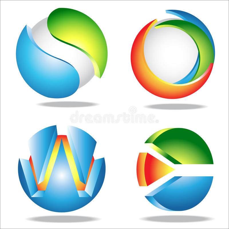 Cirkel stock illustratie
