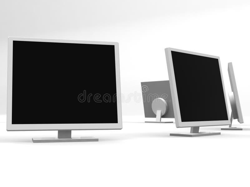 Cirkel 2 van monitors stock illustratie