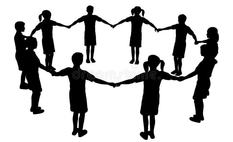 Download Cirkel 3 van kinderen vector illustratie. Afbeelding bestaande uit hand - 2218059