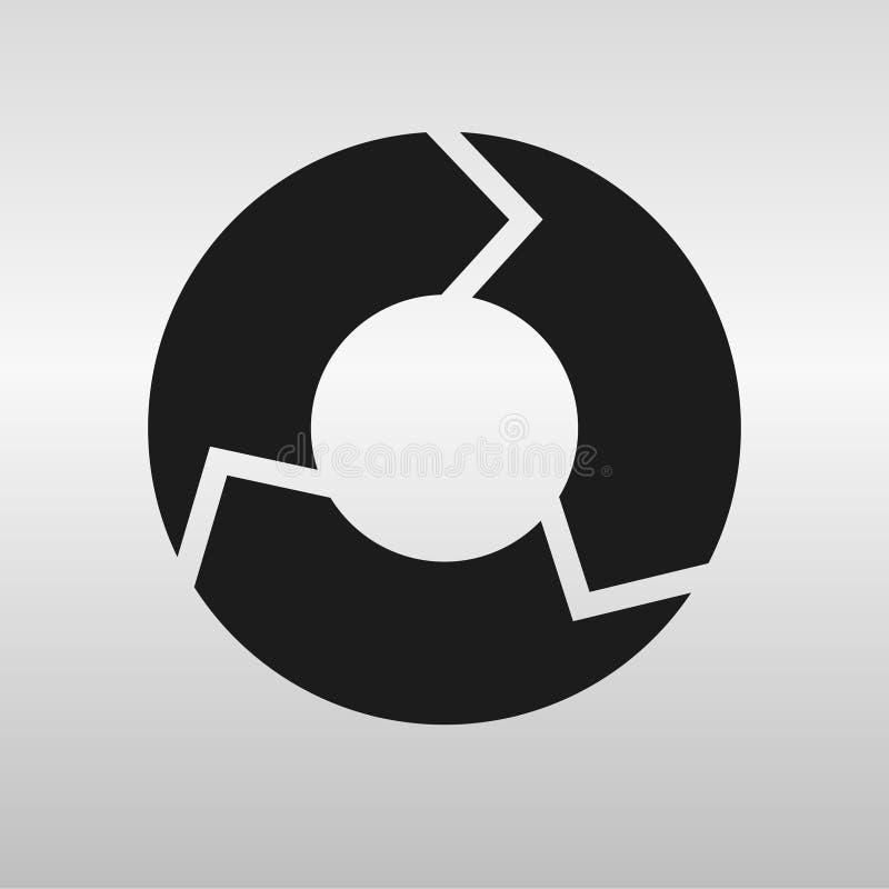 cirkel vektor illustrationer