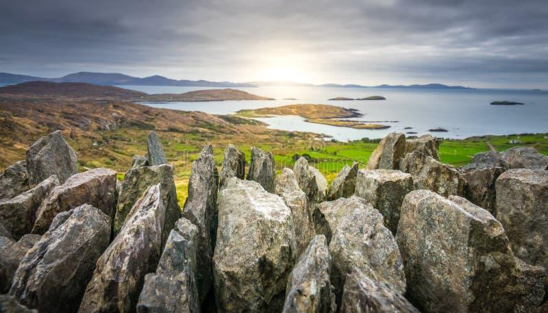 Cirkel av Kerry Landscape fotografering för bildbyråer