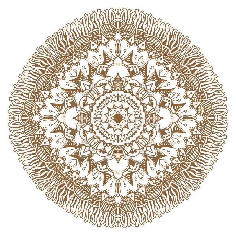 Cirkel bloemenornament stock illustratie