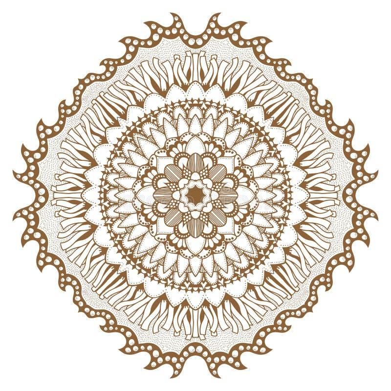 Cirkel bloemenornament royalty-vrije illustratie