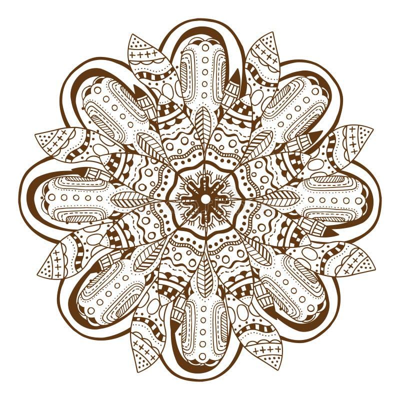 Cirkel bloemenornament Mandala royalty-vrije illustratie