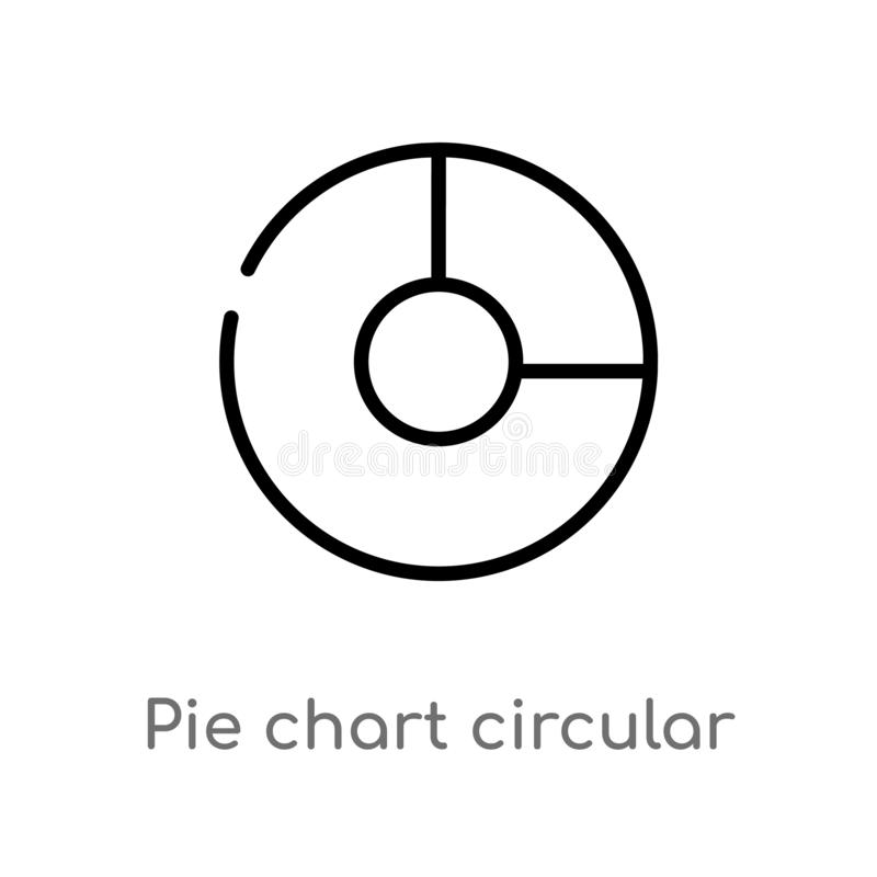 cirkel de interface vectorpictogram van het overzichtscirkeldiagram r vector illustratie
